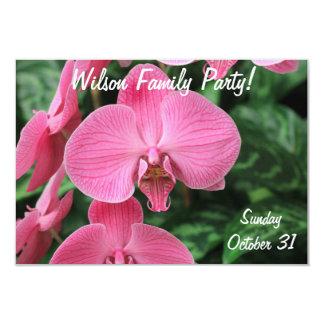 """Orquídeas rosadas invitación 3.5"""" x 5"""""""