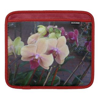 Orquídeas rosadas manga de iPad