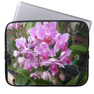 Orquídeas rosadas manga portátil