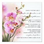 Orquídeas rosadas románticas que casan la comunicados