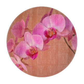 Orquídeas rosadas tablas de cortar