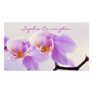 Orquídeas rosadas y blancas tarjetas de visita