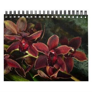 Orquídeas tropicales florecientes 2015 calendario de pared