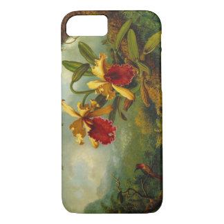 Orquídeas y colibrí 1875 funda iPhone 7