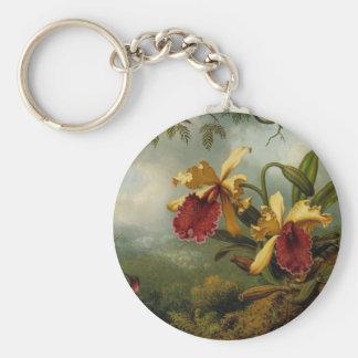 Orquídeas y colibrí de Martin Johnson Heade Llavero Redondo Tipo Pin
