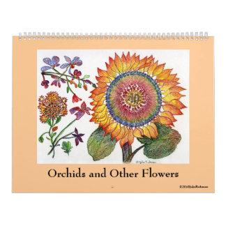 Orquídeas y otras flores calendarios de pared