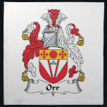 "Orr Family Crest Cloth Napkin<br><div class=""desc"">Orr Coat of Arms</div>"