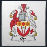 "Orr Family Crest Cloth Napkin<br><div class=""desc"">Orr Coat of Arms</div>"