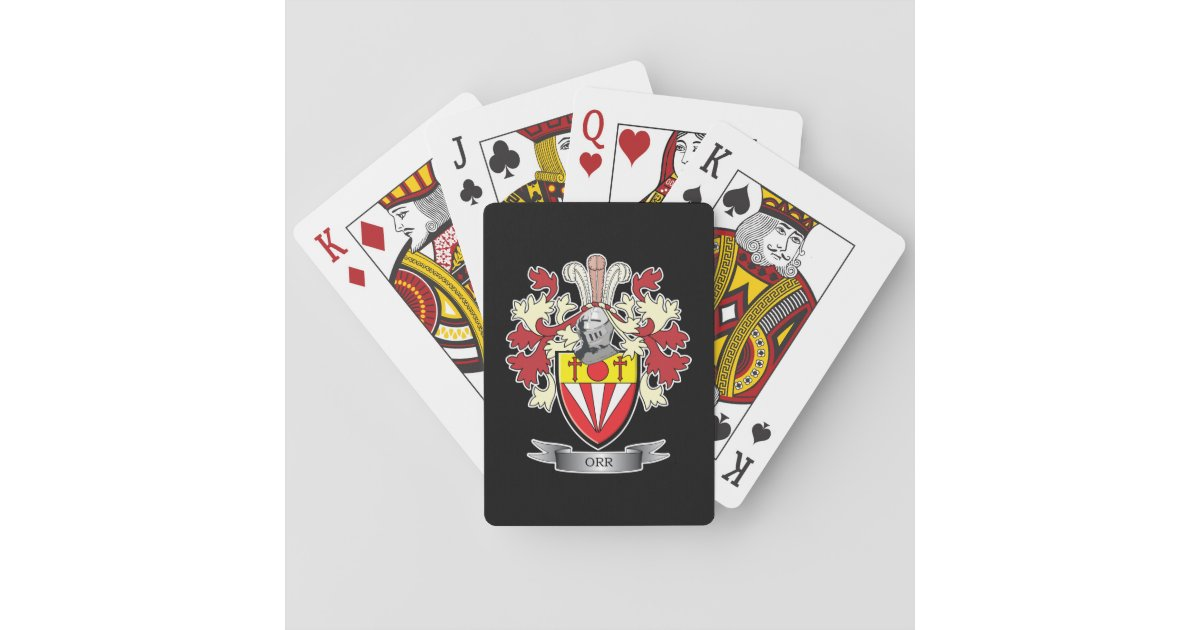 Orr Family Crest Coat Of Arms Playing Cards Zazzle Com