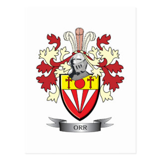 Orr Family Crest Coat of Arms Postcard