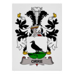 Orre Family Crest Poster