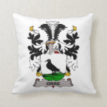 Orre Family Crest Throw Pillows