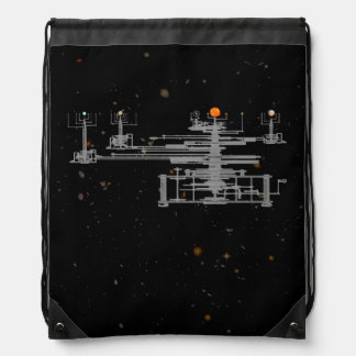 Orrery Planetary in Space Drawstring Backpack