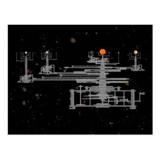 Orrery Solar System Postcard