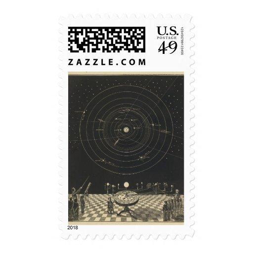 Orrery, Solar System Stamp