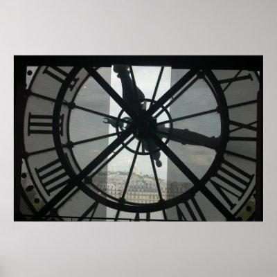 Orsay Clock Paris Poster