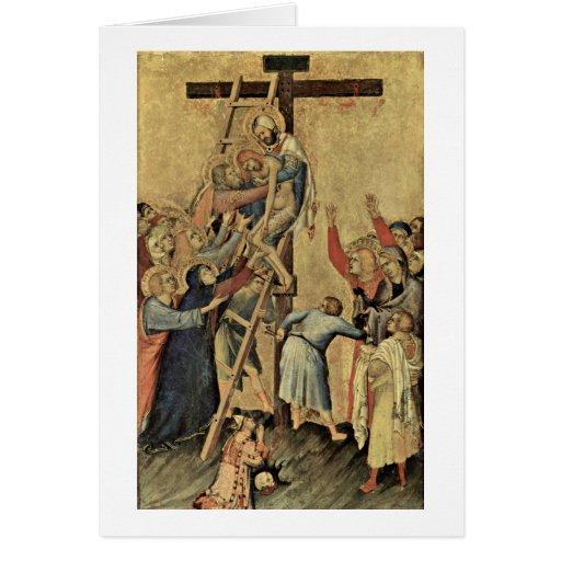 Orsini-Altar Scene: Cross By Simone Martini Greeting Card