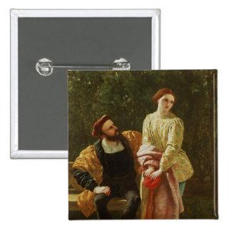 Orsino and Viola Pinback Button