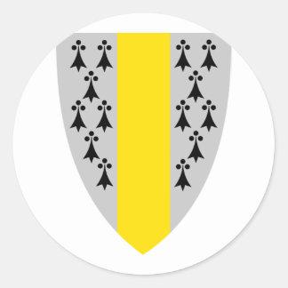 Orskog komm, Norway Classic Round Sticker