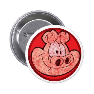 Orson el botón del cerdo pin redondo de 2 pulgadas