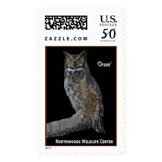 'Orson' Great Horned Owl Postage