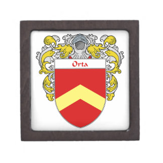 Orta Coat of Arms/Family Crest Gift Box