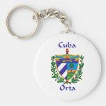 Orta Shield of Cuba Keychain