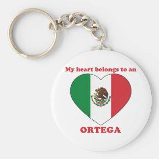Ortega Basic Round Button Keychain