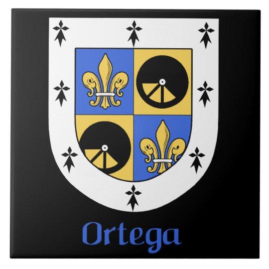 Ortega Family Shield Decorative Tile
