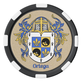 Ortega Heraldic Arms Set Of Poker Chips