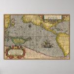 Ortelius el Pacífico Poster