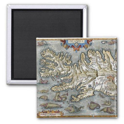 Ortelius Map Sea Monsters Magnet