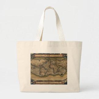 Ortelius World Map 1570 Canvas Bags