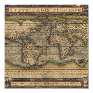 Ortelius World Map 1570 Card