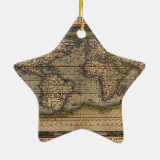 Ortelius World Map 1570 Ceramic Ornament