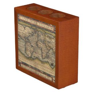 Ortelius World Map 1570 Desk Organizers