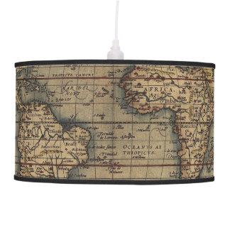 Ortelius World Map 1570 Pendant Lamp