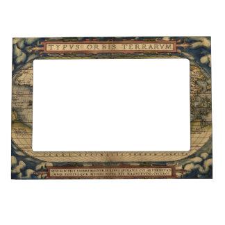 Ortelius World Map 1570 Magnetic Frame