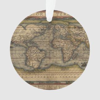 Ortelius World Map 1570 Ornament