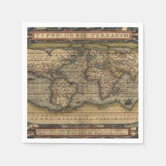 Ortelius World Map 1570 Disposable Napkin