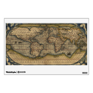 Ortelius World Map 1570 Wall Decal