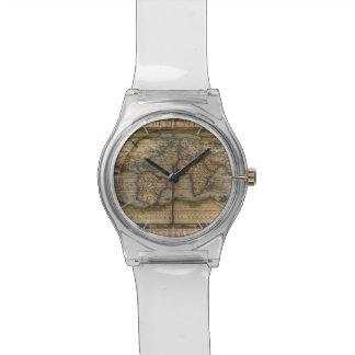 Ortelius World Map 1570 Wrist Watch
