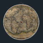"""Ortelius World Map Dartboard<br><div class=""""desc"""">Vintage dartboard with 1570 Ortelius World Map from the Theatrum Orbis Terrarum,  adapted and converted into a sphere to fix better with the product. This old and retro map besides being great for decoration can help the travel lovers to pick their next destination with a dart.</div>"""