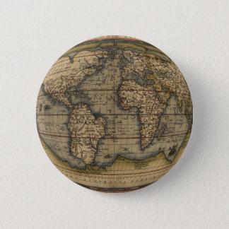 Ortelius World Map Pinback Button