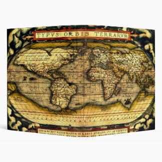 Ortellius World Map 1570 3 Ring Binder