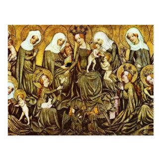 Ortenberger Altar Scene The Holy Kinship By Meiste Postcard