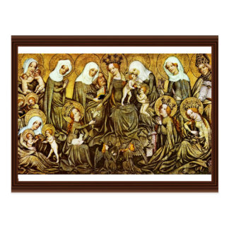 Ortenberger Altar Scene The Holy Kinship By Meiste Post Cards