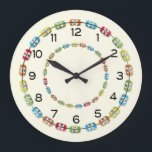 """Orthodontic Braces Office Clock<br><div class=""""desc"""">A fun clock for any orthodontist office with circles of colorful braces on an ivory background. Give your patients something to look at and talk about during their check-up visit.You can change the background to suit your office decor. Please note that the braces and numbers may not show well on...</div>"""