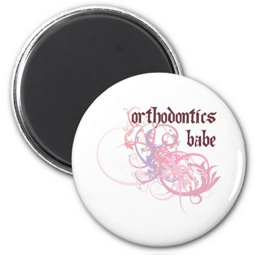 Orthodontics Babe Refrigerator Magnet