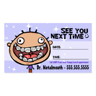 Orthodontist.Braces.Dental.Appointment Reminder Business Card